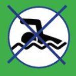 verboden te zwemmen